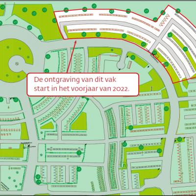 plan kerkhof Zoersel | ontgraving start voorjaar 2022: als ingang links is, gaat het om boog bovenaan en rechts