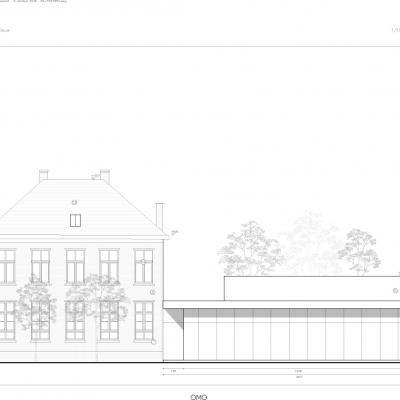 plan nieuwe dorpszaal en pastorij Halle