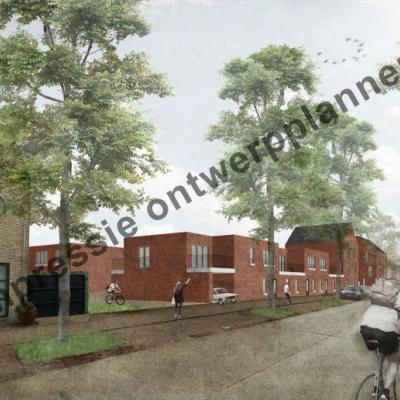 impressie van hoe de nieuwe gebouwen in de Lindedreef er mogelijk uit zullen zien