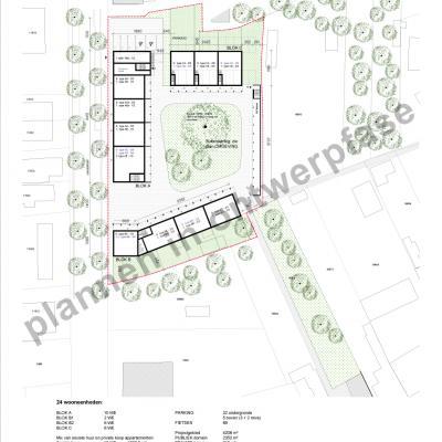 ontwerpplannen Lindedreef