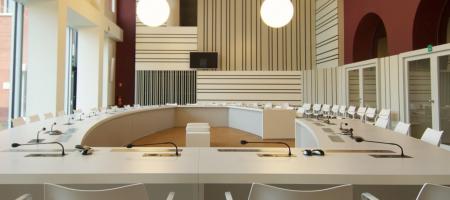binnenkant van de raadzaal