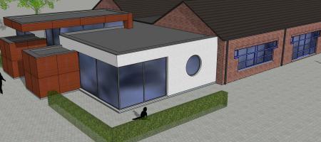 3D-foto van de nieuwe kleuterklassen in de Kiekeboes