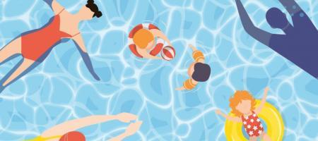 campagnebeeld zorgeloos zwemmen