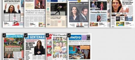 homepagina van GoPress met de beschikbare kranten