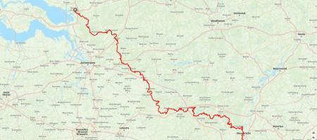 route van het Vlaamse GR5-traject