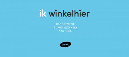 logo 'ik winkelhier' van Unizo