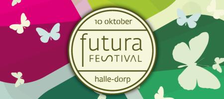 banner met logo van Futura Festival