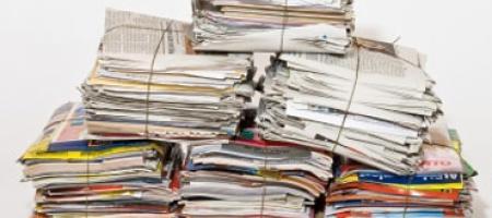 samengebonden papier en karton