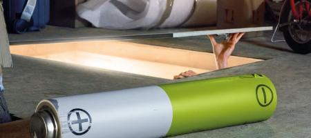 lege batterij op zolder