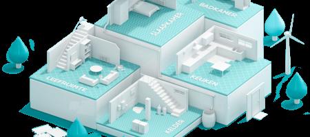 3D plattegrond van woning