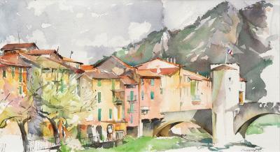 aquarel landschap van Suzanne Lauwereins