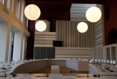 raadszaal in het administratief centrum Zoersel