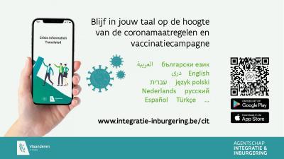 affiche corona-info in 18 talen
