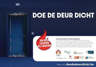 campagnebeeld 'Doe de deur dicht'