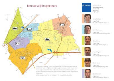 overzicht van de wijkagenten in onze gemeente