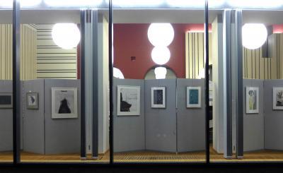 kunstwerken pronken achter glas