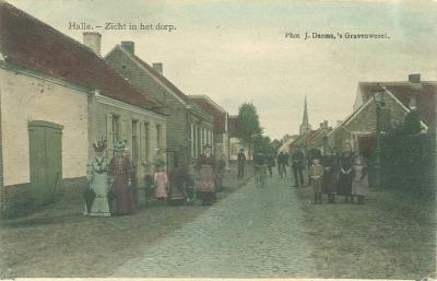 zicht in het dorp