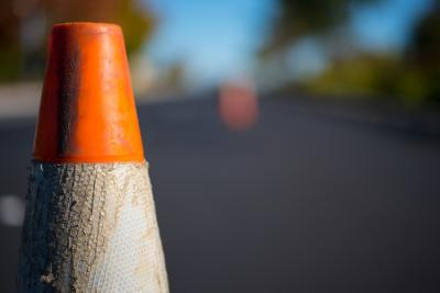kegel wijst op wegenwerken