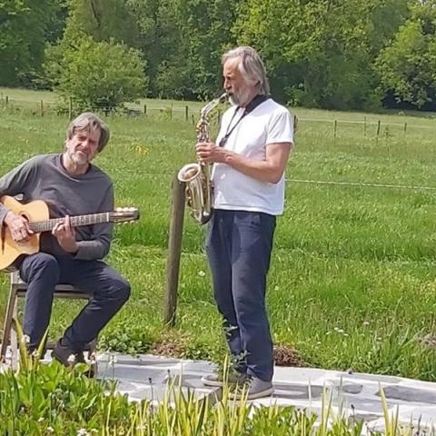 Frank Schaffels, Marck Bryssinck repeteren buiten