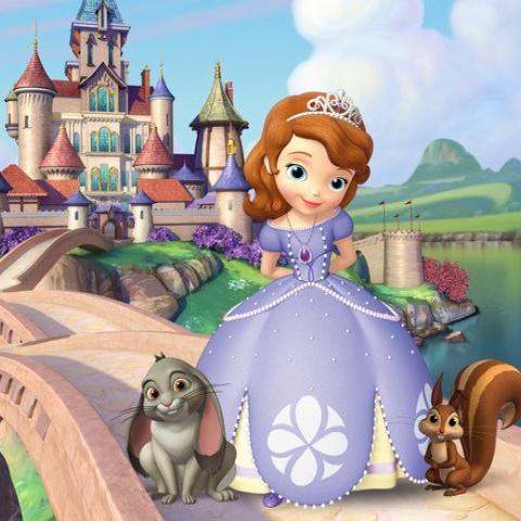 illustratie prinses voor kasteel