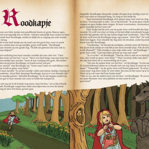 Sprookjesboek met verhaal van Roodkapje