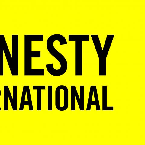 Logo van Amnesty international (kaars met prikkeldraad)